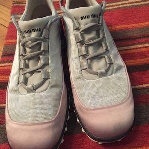Miu Miu Satin Sneakers